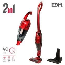 Aspiradora escoba sin cable 2 en 1 EDM 22.2v 120w