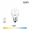 BOMBILLA ESFERICA LED E27 5W 400 Lm 4000K LUZ DIA EDM