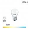 BOMBILLA ESFERICA LED E27 5W 400 Lm 3200K LUZ CALIDA EDM