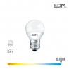 BOMBILLA ESFERICA LED E27 7W 600 Lm 6400K LUZ FRIA EDM
